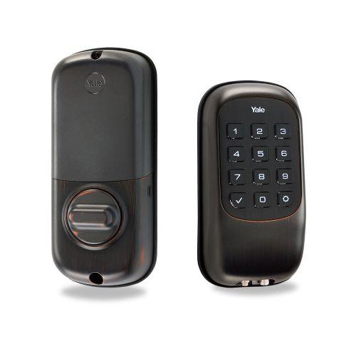 yale zwave push button keyfree smart door lock